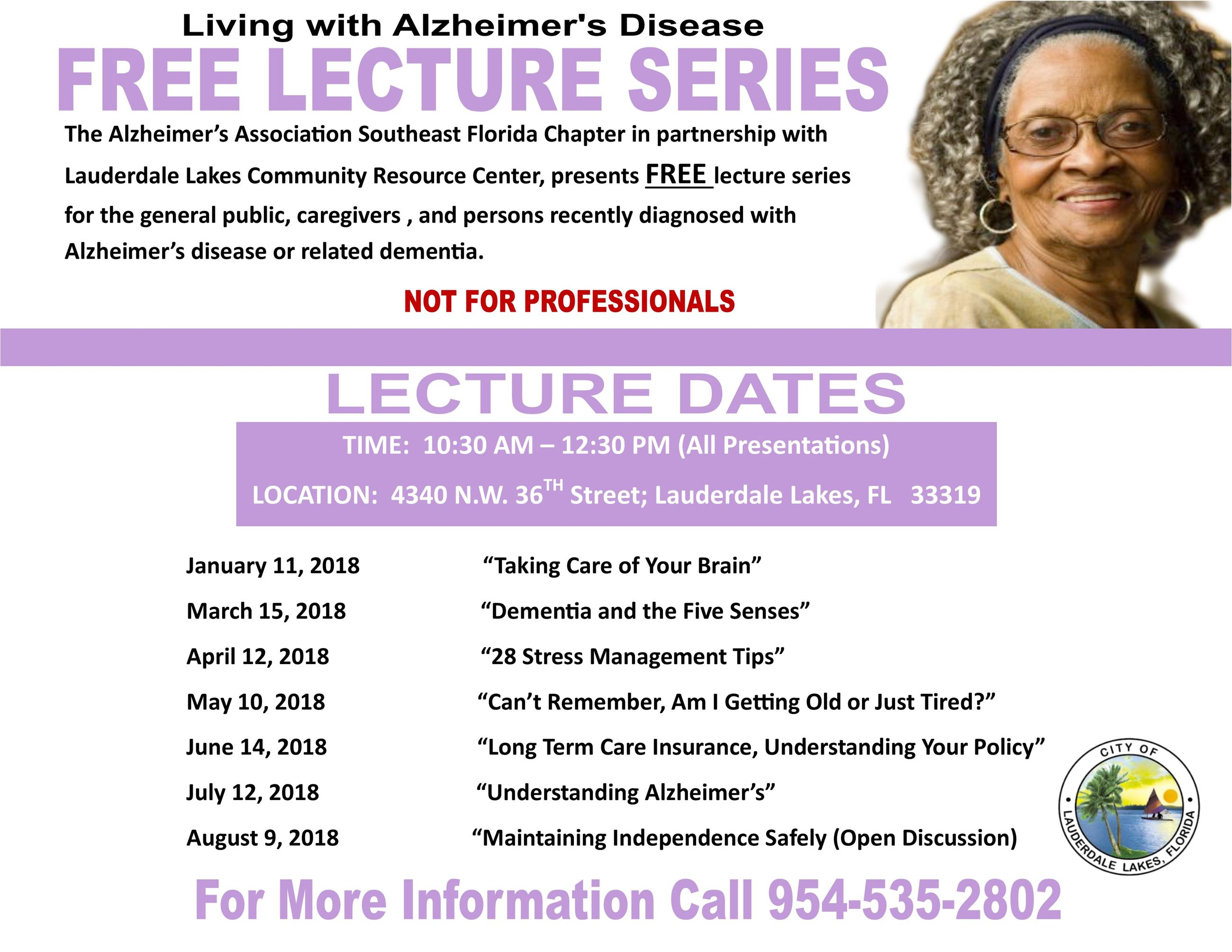 Alzheimers Lectures 2018