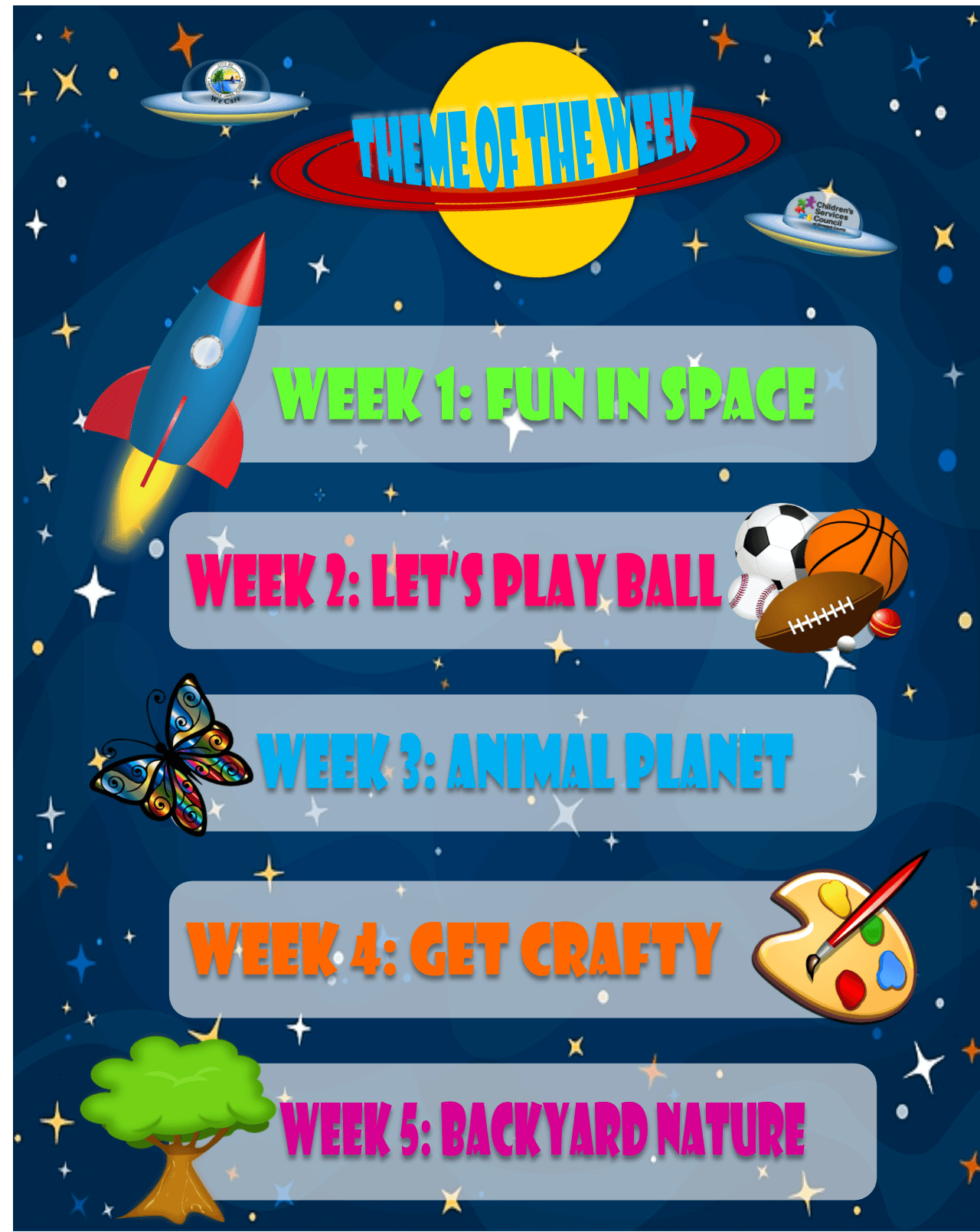 Theme of the week (Activites and Prizes 2)
