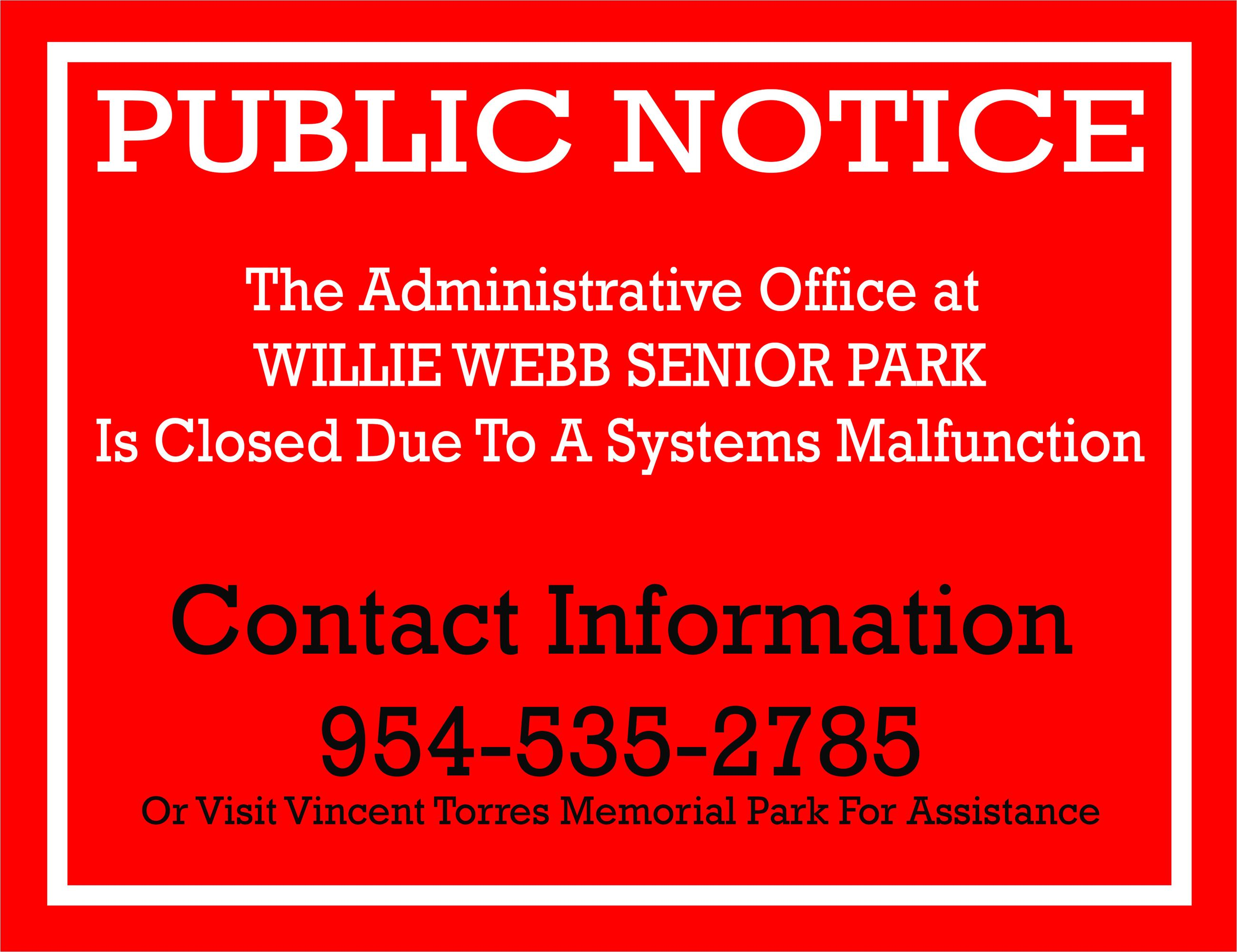 Public Notice WW Closing