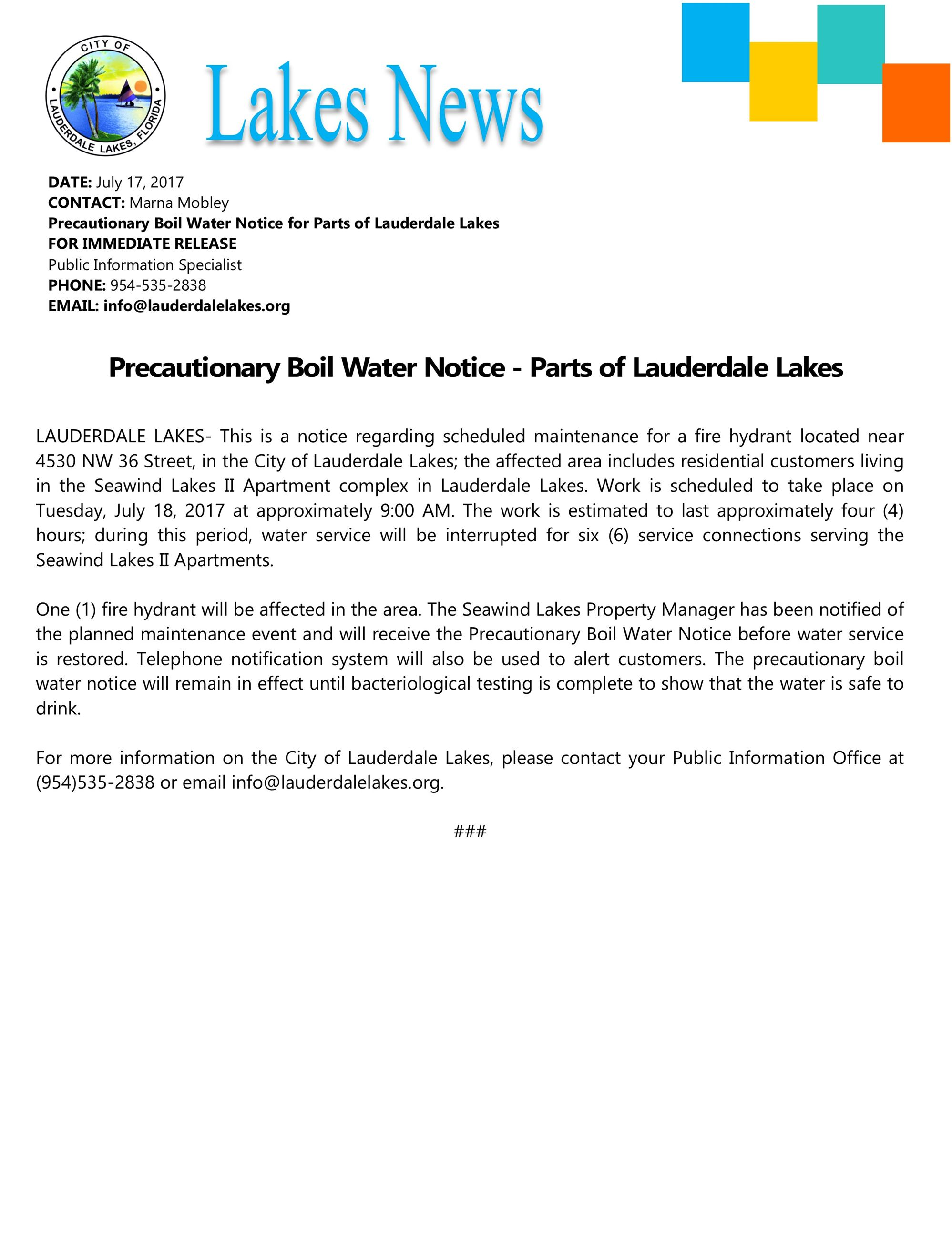 Lauderdale Lakes, FL - Official Website