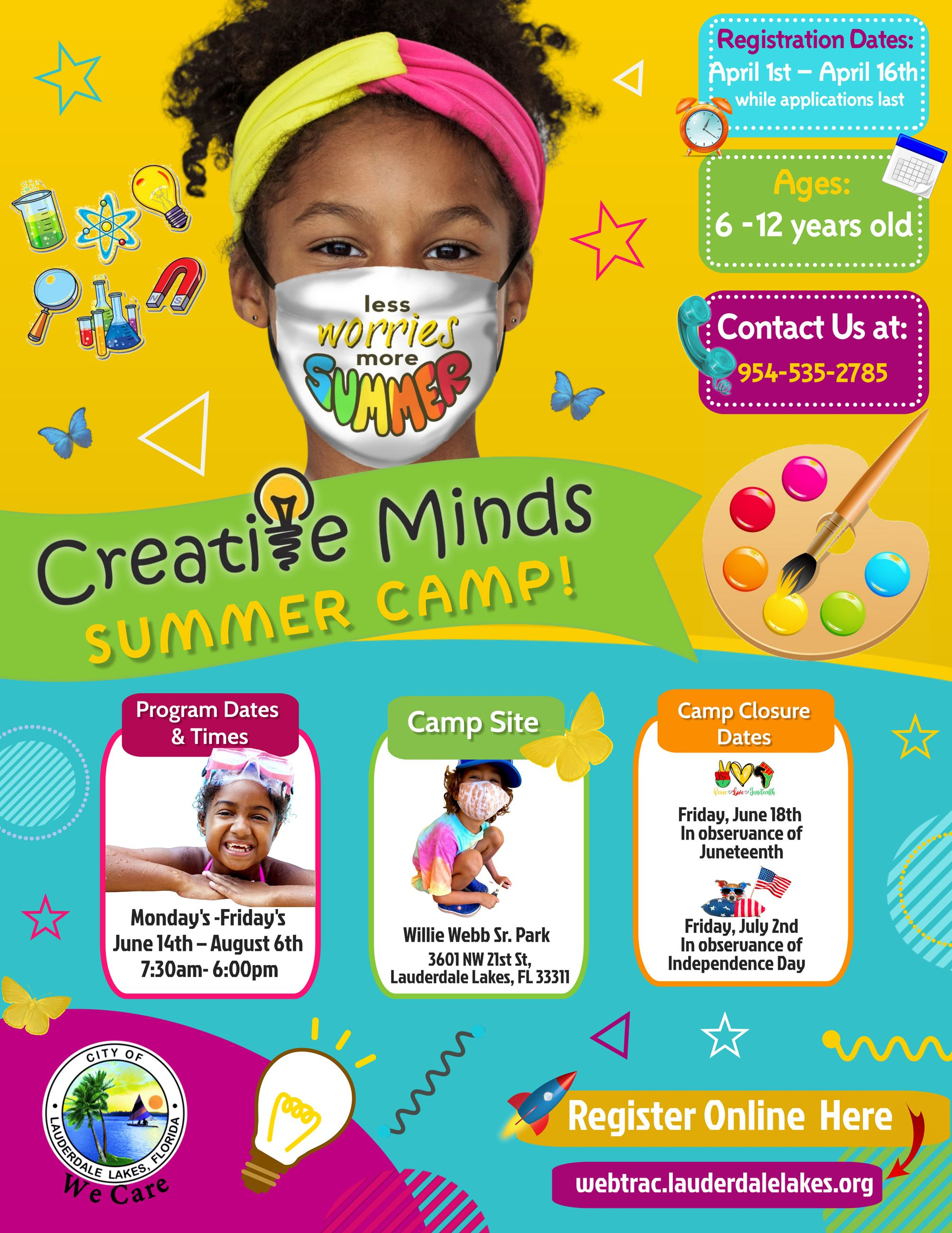 Creative Minds Summer Camp Flyer
