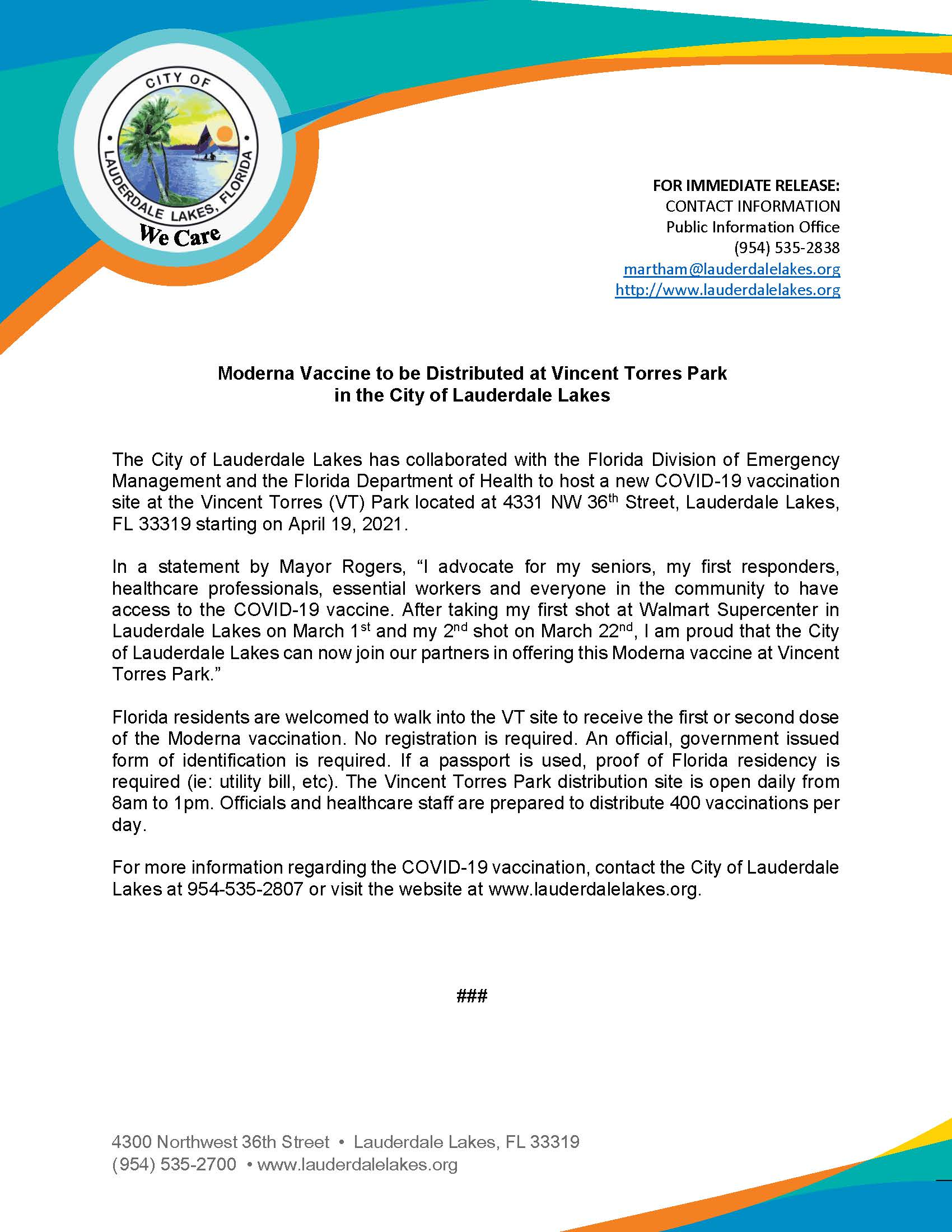 Press Release - Moderna Vaccination at vt Park (002)
